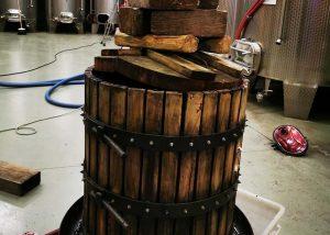 Barrel Pressing At Azienda Agricola Cascina Garitina Winery