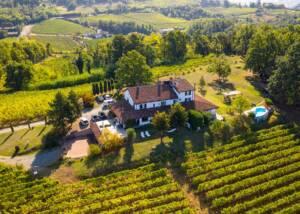 aerial view of azienda agricola il poggio