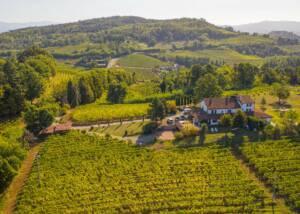 aerial view of azienda agricola il poggio winery