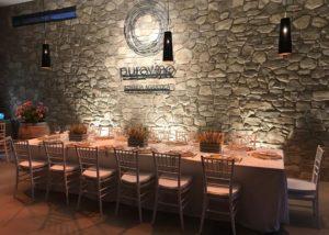 tasting room of azienda agricola purovino