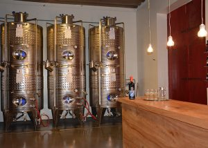Steel Tanks Inside The Azienda Agricola Rechsteiner Winery