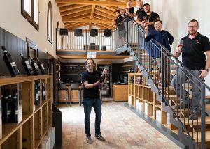 Staffs Inside The Wine Shop Of The Azienda Agricola Rechsteiner Winery