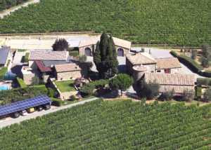 aerial view of azienda agricola talenti