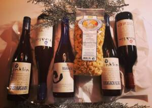 Display of Wine Bottles of Biolandhof Rinklin