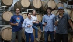 bodega caelum winemakers tasting wines in the great wine cellar