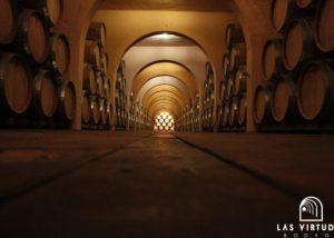 corridor at Bodega Las Virtudes cellar in Spain