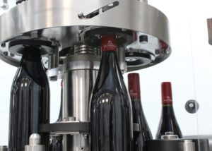 winemaking bottle machine at Bodega Las Virtudes winery in Spain