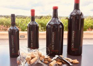 four bottles of wine made in Bodega Son Campaner in Spain