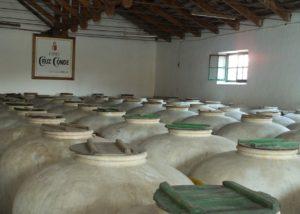 old wine tanks at Bodegas Cruz Conde winery in Spain