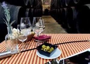 Bodegas Cruz Conde tasting table in Spain