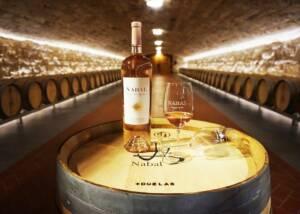 Bodegas Nabal Wine Bottle and Glass