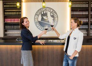two women tasting wines at Bodega Vi Rei winery in Spain