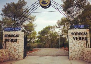 entrance into the estate of Bodega Vi Rei winery in Spain
