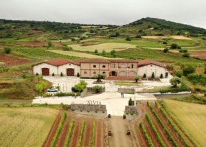 bird view of the Bodegas Alvia estate in Spain