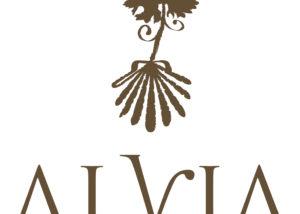 Bodegas Alvia logo with vine on it