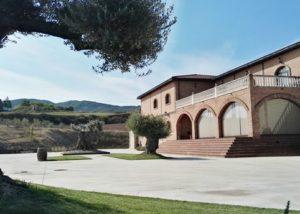 Bodegas Alvia winery building in Spain