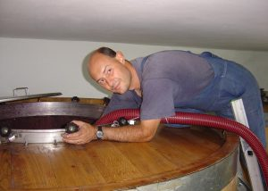 Winemaker Working At Campinuovi Winery