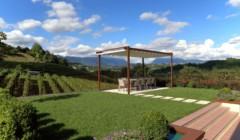 Pergola in the garden of Cantina Bernardi winery