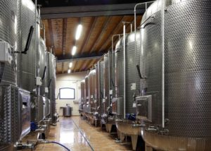 Tanks installed at Cantina Bernardi winery