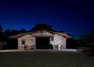Main Building Of Cantina Fegnan Winery At Night
