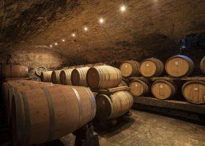 Barrels Inside The Cellar Of The Castello Della Paneretta Winery