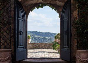 Entrance Door Of The Castello Della Paneretta Winery