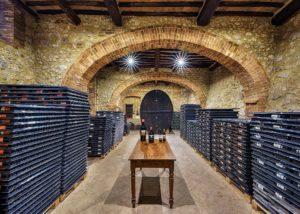 Cellar Of Castello Poggiarello Winery in Chianti, Tuscany, Italy