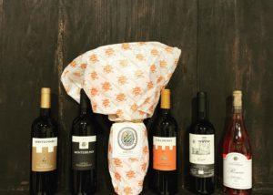 Four Bottles Of Wine By Castello Poggiarello Winery in Chianti, Tuscany, Italy