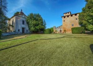 Buildings Of Castello Poggiarello Winery in Chianti, Tuscany, Italy