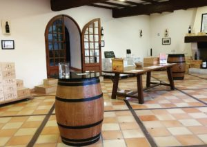 Tasting Area At Château La Tour De By Winery