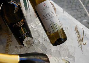 Bottles Of Wine By Corte Sermana Winery In A Ice Bucket