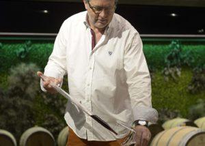winemaker testing wines at davinum