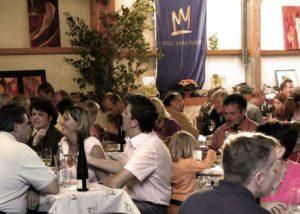 Group Of People Tasting Wine At Dienhart Weine Weingut Zur Römerkelter Winery
