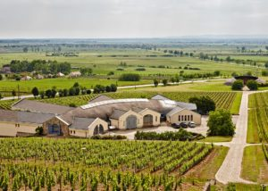 aerial view of disznoko winery