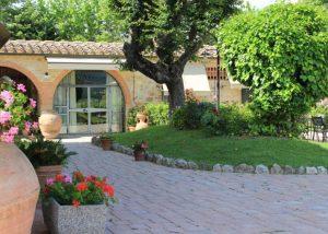 Garden Of Fattoria Il Colommbaio Winery in Chianti, Tuscany, Italy