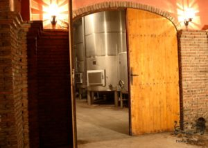 fernandez de arcaya entrance to the modern laboratory of the winery