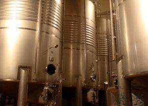 fernandez de arcaya large steel tanks for wine production inside laboratory