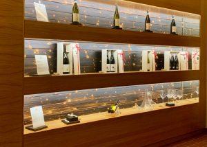 Wine Bottles On Display At Fontefico Winery