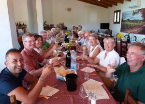 People Tasting Wine At Fradiles Winery
