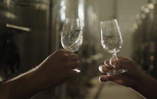 Wine tasting inside the cellar room of Garafa Wine Shop