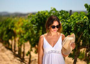 giró del gorner winemaker amid vineyard near winery in spain