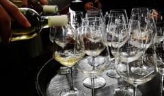 Pouring Wine Into Wine Glasses At La Chimera D'Albegna Winery