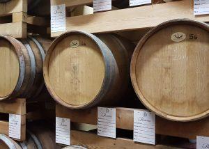 Barrels At The Cellar Of La Patareina Winery