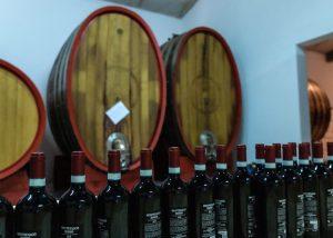 Wines Bottles Aligned Inside The Cellar Room At La Veneranda Winery