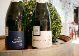 two bottles of wine at les caves de la loire winery