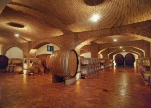 Barrels At The Cellar Of Manfredi Aldo Winery