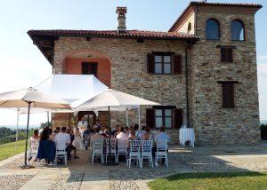 People Enjoing Wines Just Outside Manfredi Aldo Winery