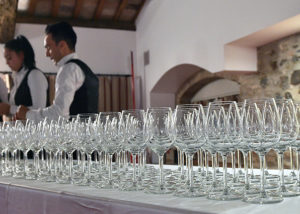 Wineglasses At Marina Danieli Estate Winery