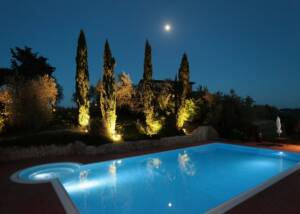 swimming pool at the courtyard of mormoraia
