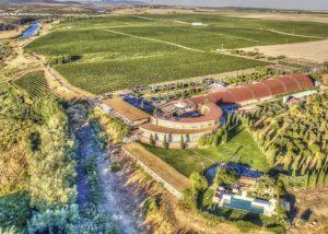 Aerial View Of The Pago Del Vicario Winery Estate